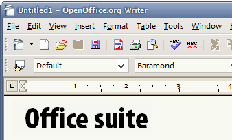 Image showing screenshot of OpenOffice.org Writer